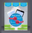 brochure digital devices vector image