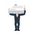 business consultant and documents assistant boss vector image