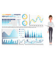 businesswoman top manager or secretary gives vector image vector image
