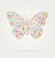 butterfly shape music color vector image