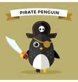 Cartoon penguin character vector image vector image