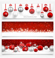 collection christmas banners vector image vector image