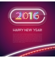 Colorful Glowing Neon Sign 2016 vector image vector image