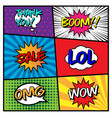 comic speech bubble set with different expression vector image
