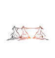 competition advantage inequality concept sketch vector image