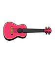concert ukulele - hawaiian string musical vector image vector image