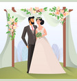 couple of mature man and woman having wedding vector image vector image