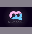 cq alphabet letter join joined letter logo design vector image vector image