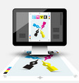 creative graphic design with cmyk print document vector image vector image
