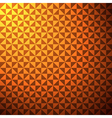 creative triangle pattern in orange background vector image