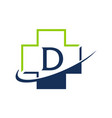 cross healthcare letter d vector image vector image