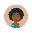 cute afro american kissing woman avatar vector image