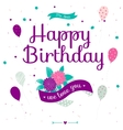 Cute romantic and lovely Happy Birthday card with vector image vector image