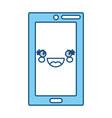 cute smartphone kawaii vector image vector image