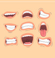 flat set of male mouths with different vector image vector image