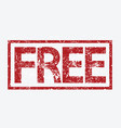 free stamp vector image vector image