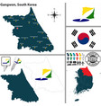 gangwon province south korea vector image vector image