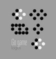 go game logo set baduk ko rule vector image