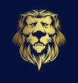 gold elegant lion logo company premium mascot vector image vector image