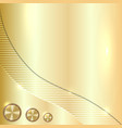 golden metallic background vector image vector image