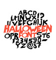 halloween font for poster scary frightening vector image