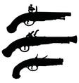 Historical matchlock pistols vector image vector image