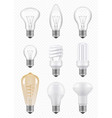 light bulbs transparent halogen economical vector image