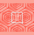 living coral trendy background with impossible vector image