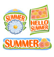 logo of summer flowers vector image vector image