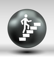 man on stairs icon button logo symbol concept vector image vector image