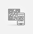 mobile phone scanning qr code concept icon vector image