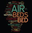 modern air beds built for convenience and comfort vector image vector image