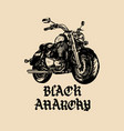 motorcycle sketch with gothic handwritten vector image vector image