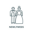 newlyweds line icon linear concept vector image vector image