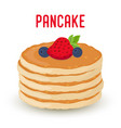 pancakes with berriesstrawberry blueberry vector image vector image