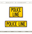 police line vector image vector image