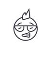 punk emoji concept line editable concept vector image