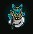 rabbit king pharaoh vector image