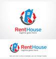 rent house logo template design vector image