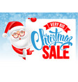 santa claus and christmas sale advertising poster vector image vector image