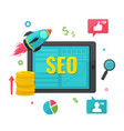 seo online marketing concept vector image