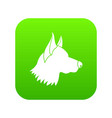 shepherd dog icon digital green vector image vector image