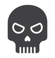 skull glyph icon halloween and scary dead sign vector image vector image