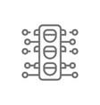 smart traffic light line icon vector image