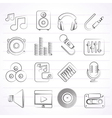 sound and audio icons vector image vector image