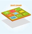 sports grounds set tennis athletic football vector image