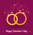 St Valentines Day card design in flat des vector image vector image