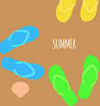 Summer time Slippers Banner vector image