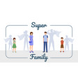 super family banner template smiling vector image vector image