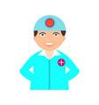 surgeon flat multi color vector image vector image